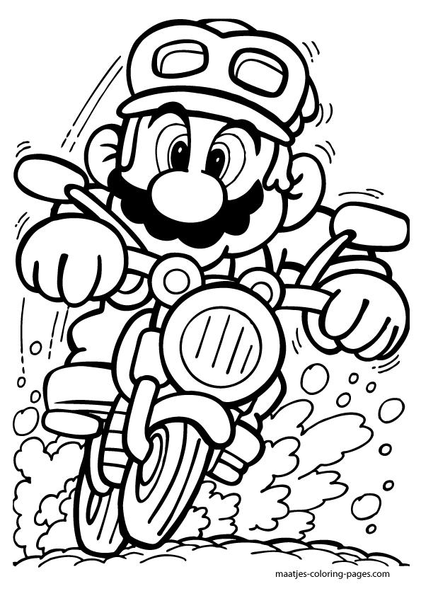 Dessin à colorier: Mario Kart (Jeux Vidéos) #20 ...