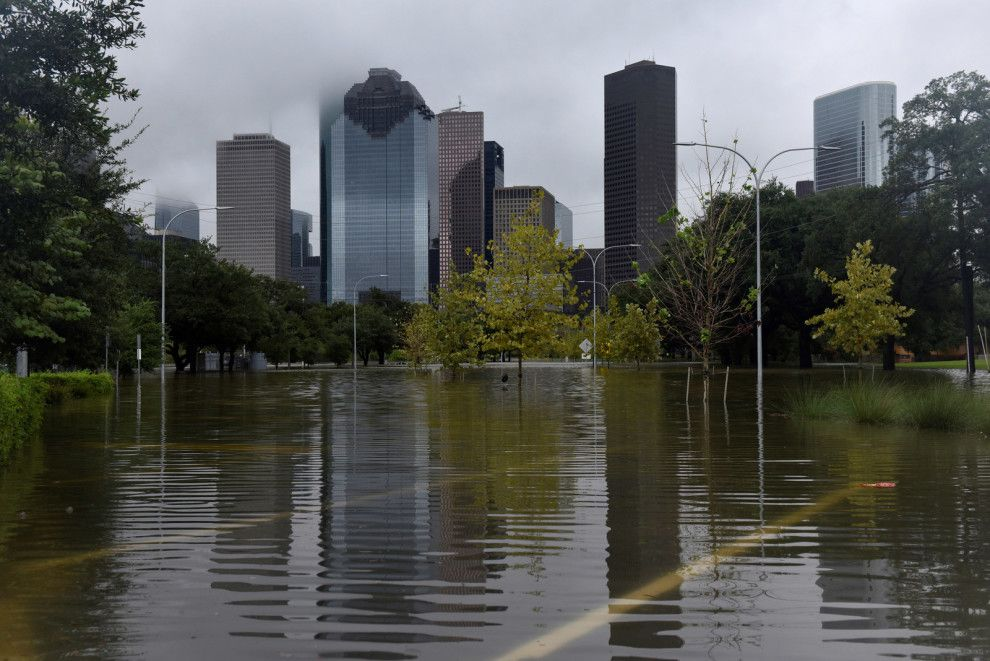 And it's still raining. Houston flooding, Houston