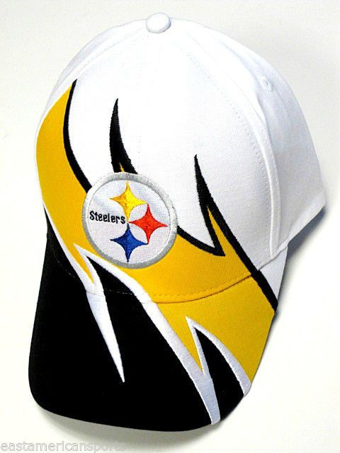 Pittsburgh Steelers NFL Team Apparel Sideline Hat Cap White Black Yellow  Wave  PittsburghSteelers d64d10e8fd6
