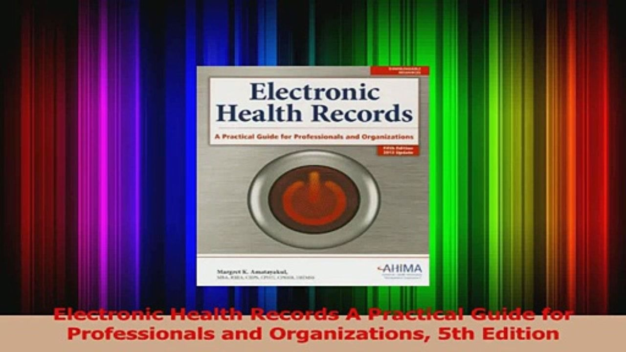 PDF Download  Electronic Health Records A Practical Guide for Professionals and Organizations 5th Read Full Ebook