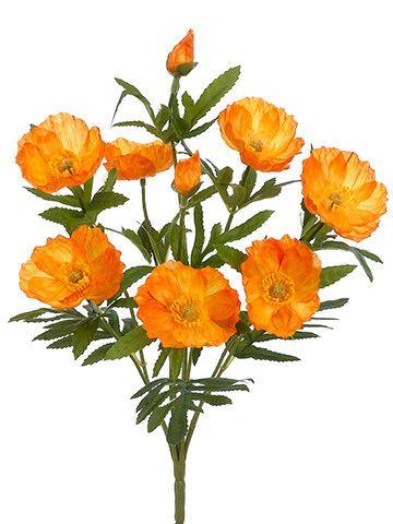 Poppy silk flower bush in orange 14 tall l3 painting pinterest poppy silk flower bush in orange 14 tall mightylinksfo