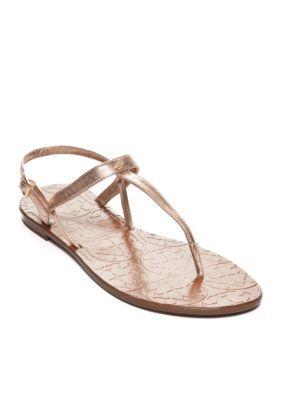 ff548710c754 Kate Spade New York Women s Citrine T-Strap Sandals - Rose Gold - 6.5M