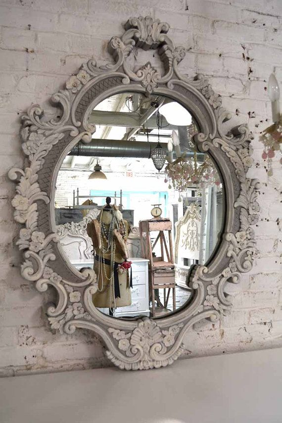 Painted Cottage Chic Shabby Romantic French Vintage Mirror
