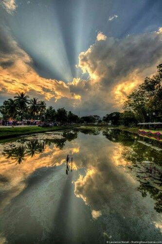 Skies over Sukhothai, Thailand