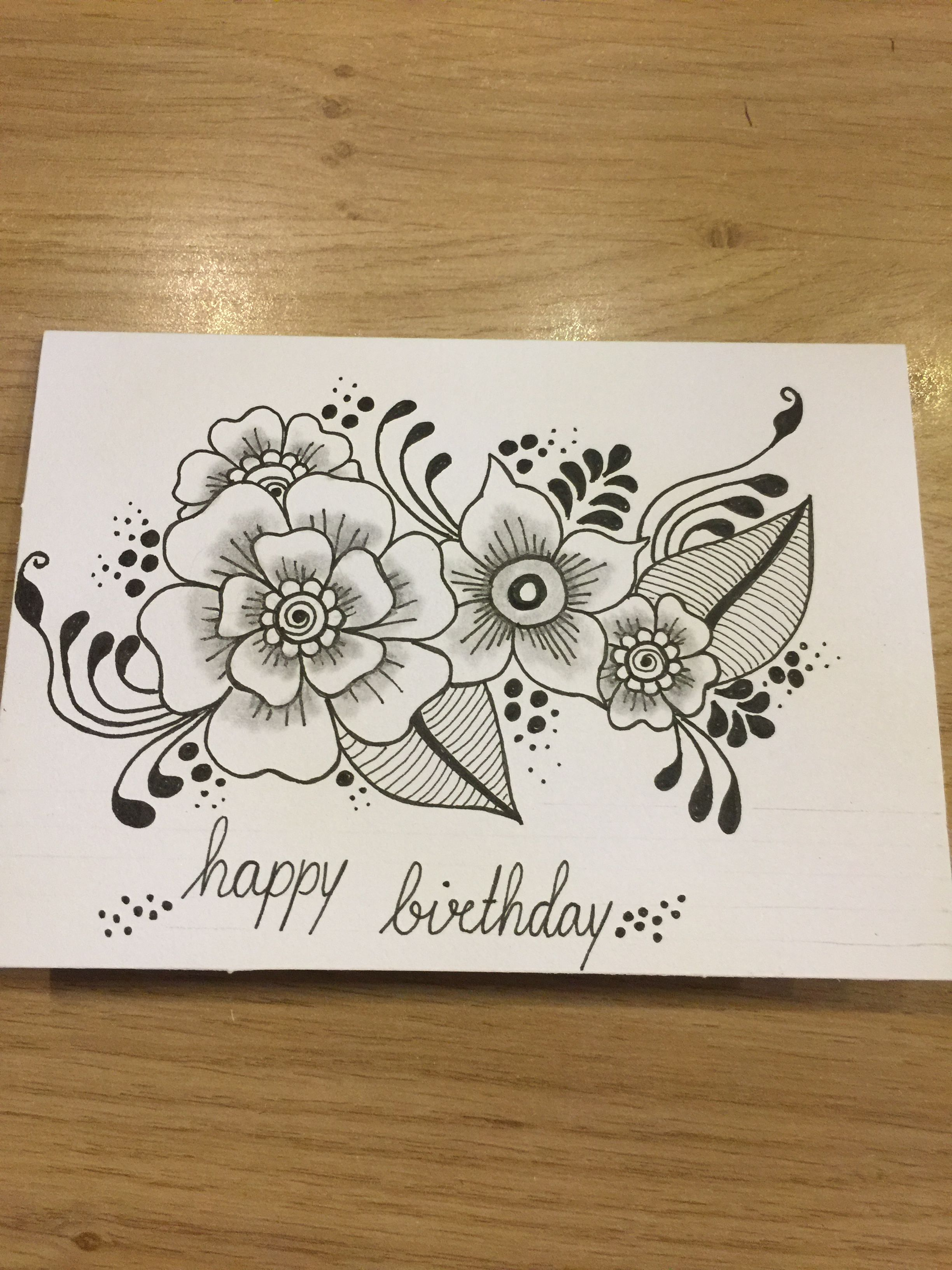 Zentangle Card With Images Doodle Art Flowers Zentangle