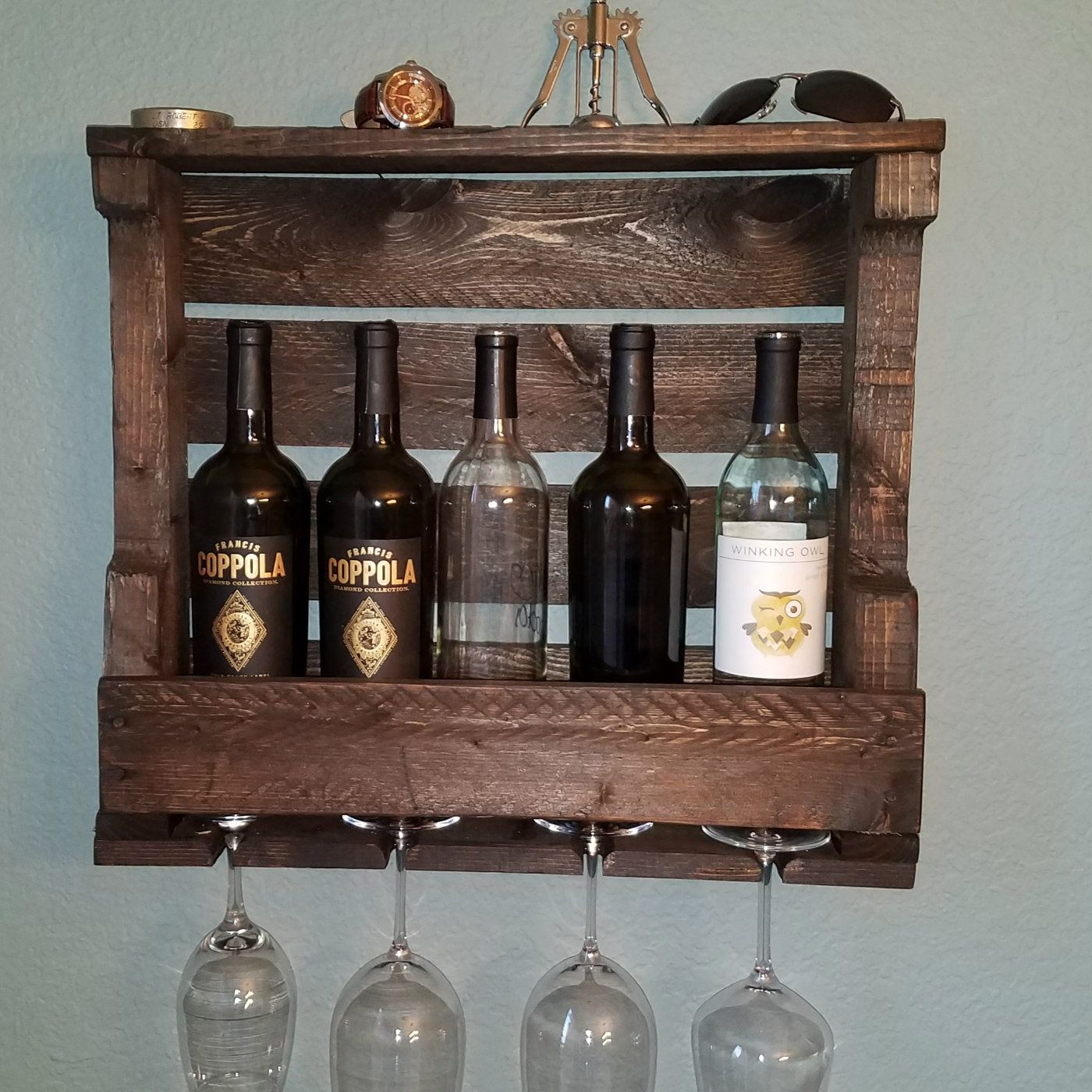 Wine Rack, Wine Holder, Wine Glass Holder, Unique Gifts For