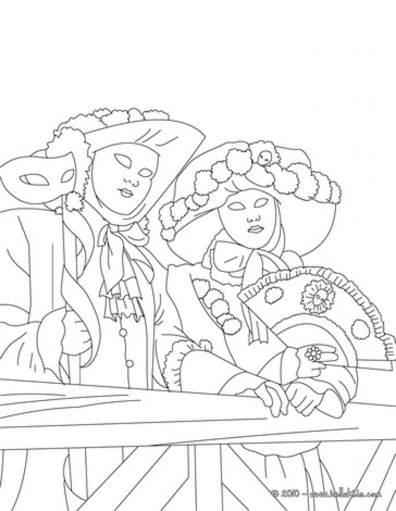 coloring pages venice winter carnival google search carnavale