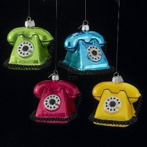 VINTAGE TELEPHONE ORNAMENTS