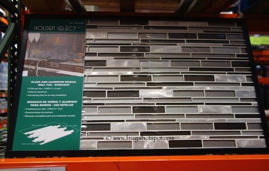 Costco Sale Golden Select Starlight Mosaic Tile 19 99 Mosaic Tiles Mosaic Wall Tiles Glass And Aluminium