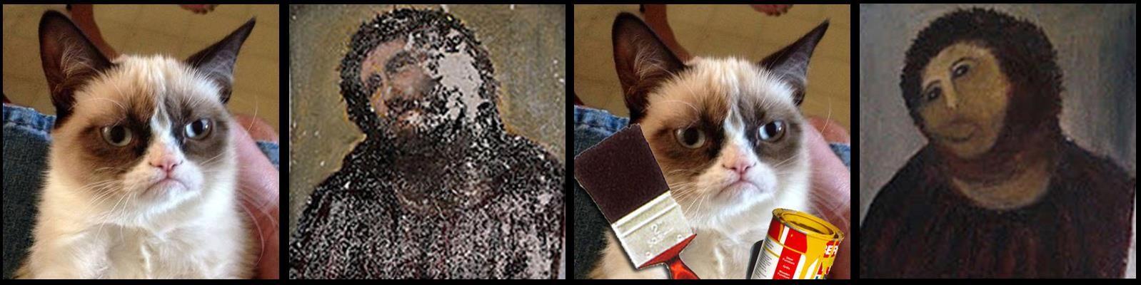 Grumpy Cat on art