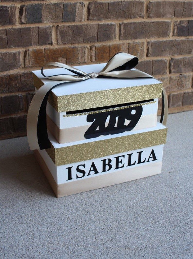 pin on graduation ideas for card boxes