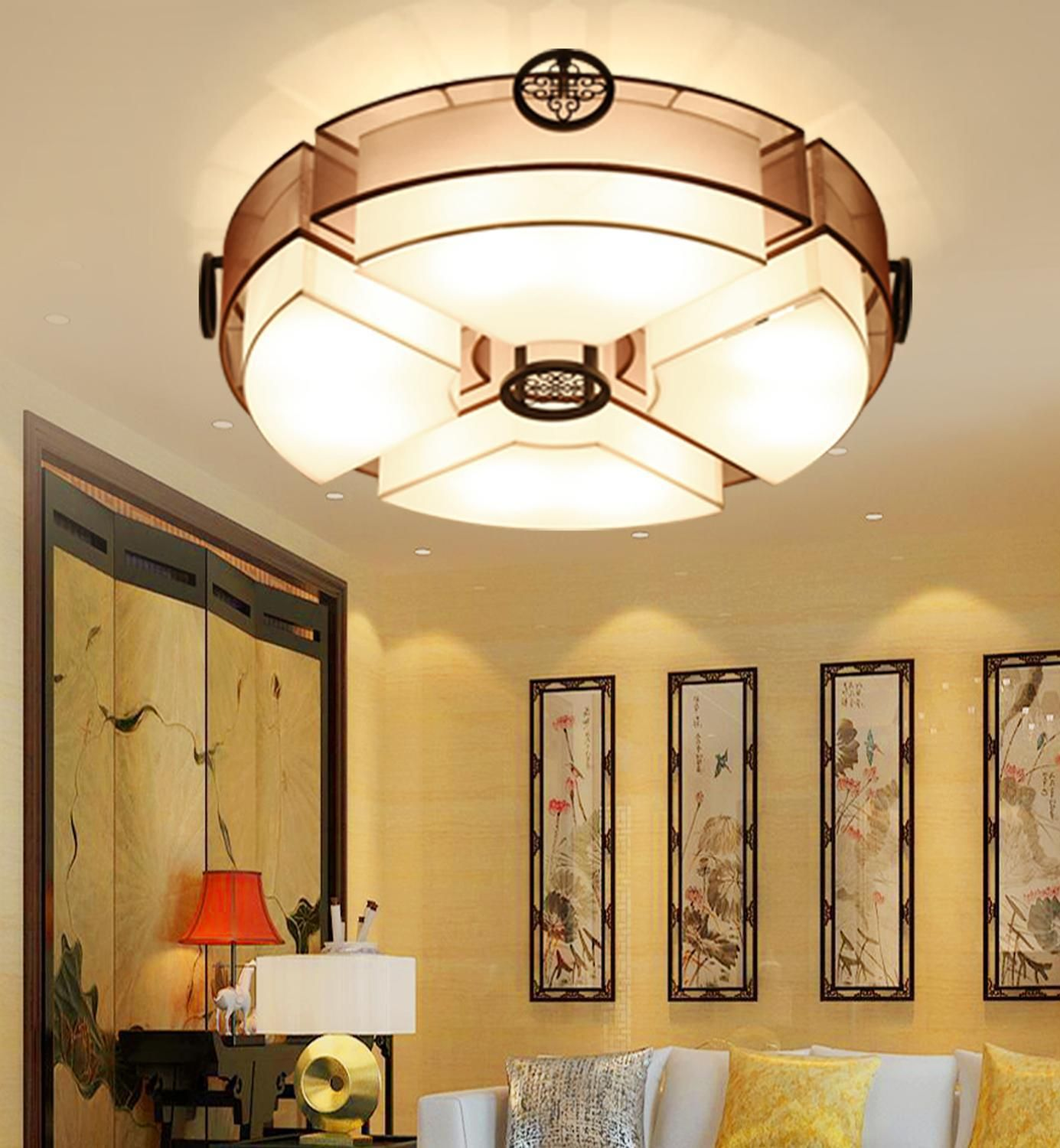 chinese style living room ceiling. Chinese Style Ceiling Light Living Room Round The Atmosphere Led Bedroom Study Restaurant Lamp Modern Simple ZH #Affiliate | Lights Pinterest