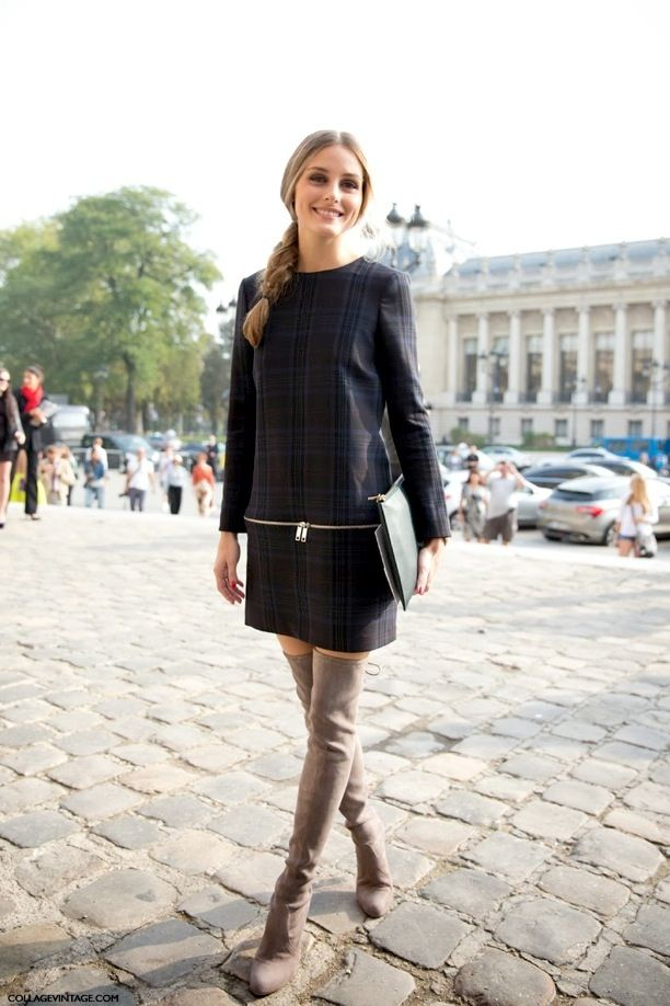 PFW PARIS FASHION WEEK STREET STYLE SHIFT DRESSES OVER THE KNEE ...