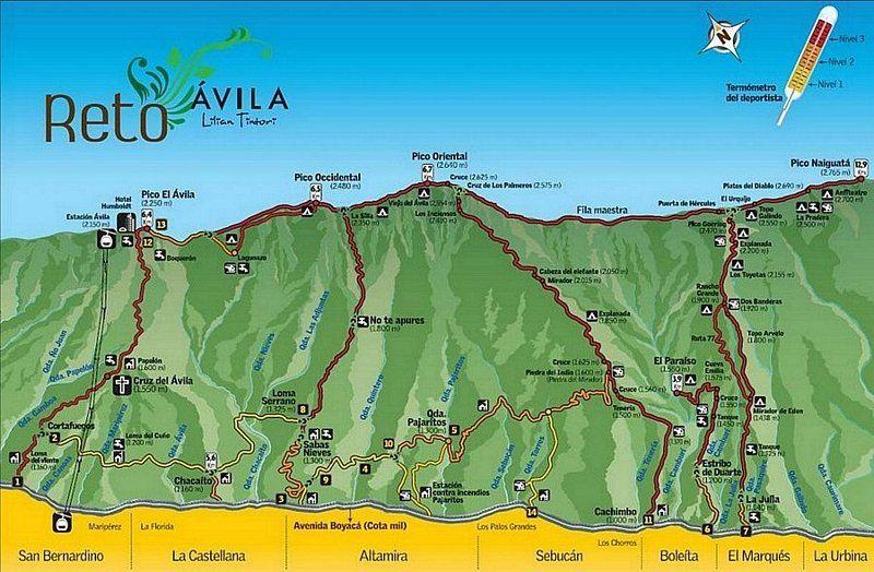 Mapa Interactivo Parque Nacional El Avila Venezuela Tuya El