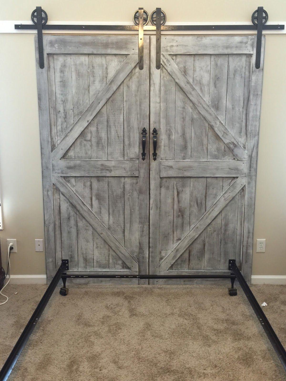 Cheaper And Better Diy Barn Door Headboard And Faux Barn Door Track
