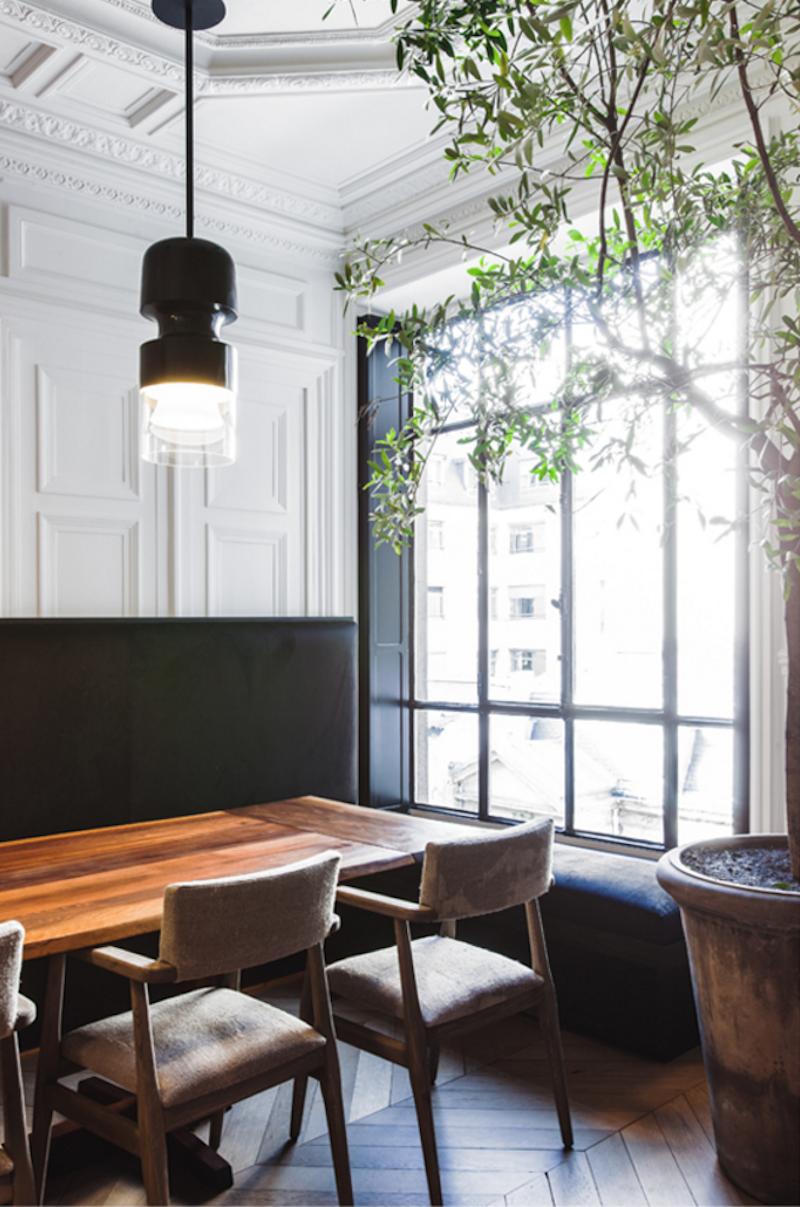 Parisian Dining Room Interesting Chic Paris Apartment  Chevron Wood Floors  Paris Apartments Inspiration