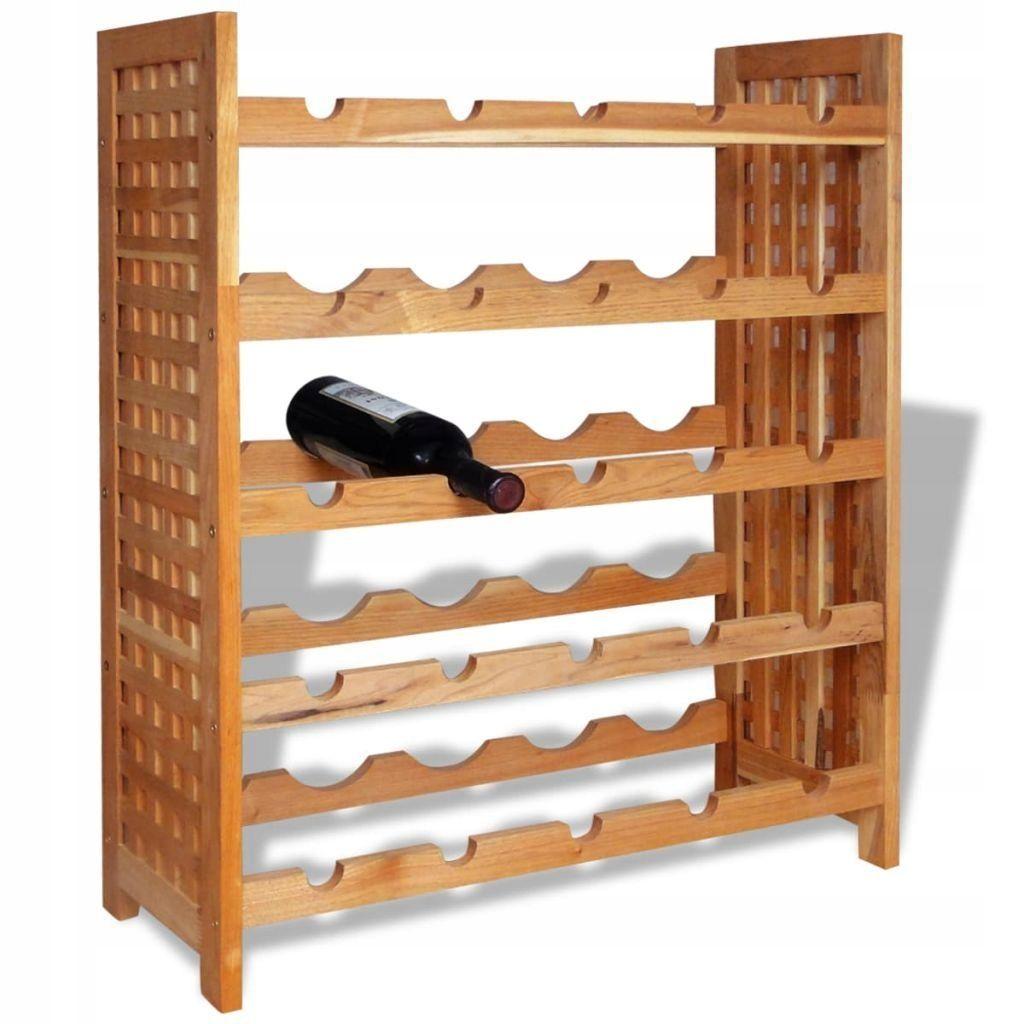 Stojak Na Wino Z Drewna Orzechowego 64x25x76 Cm Witryna Pomysly Do Dekoracji Domu I Nowoczesny