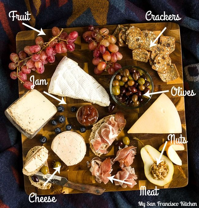 A step-by-step tutorial on how to make a cheeseboard for entertaining, including a variety of cheeses from Dean & Deluca.