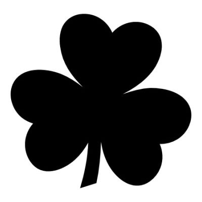 Pic Irish Shamrock  If You Would Like The Black Shamrock Template