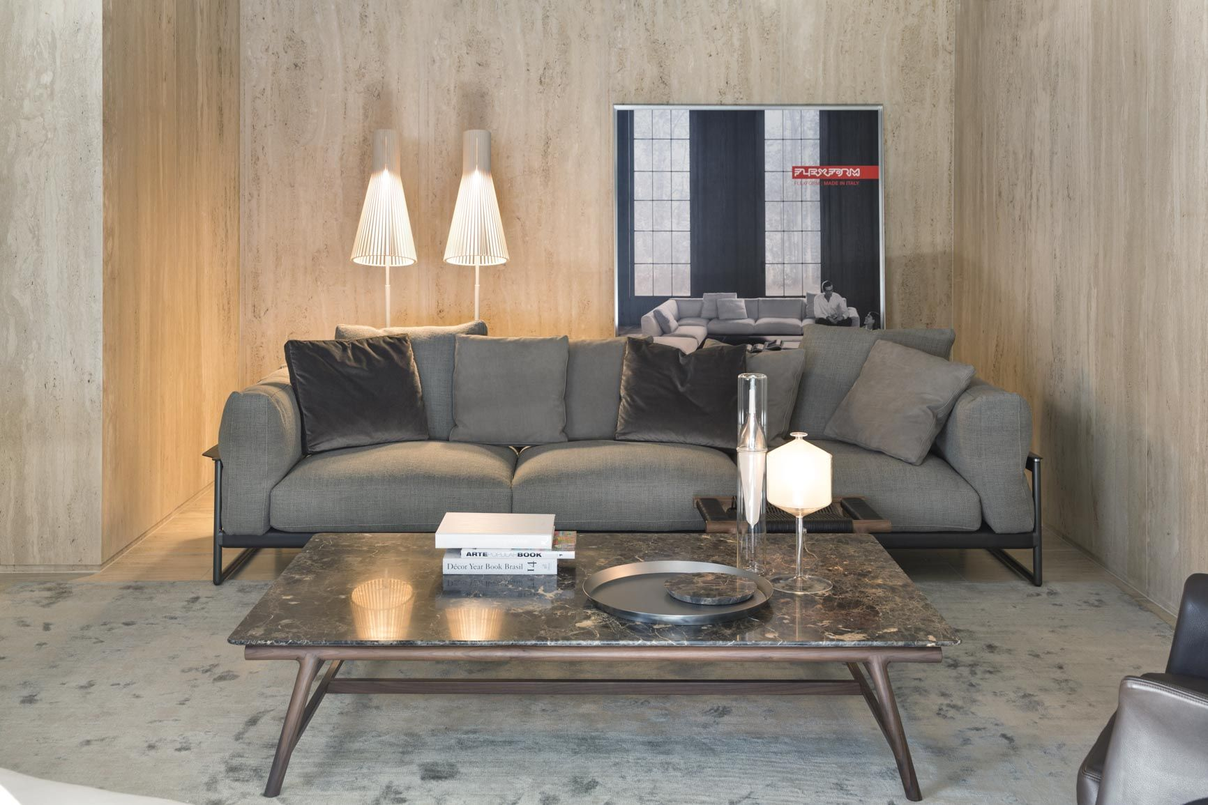 2017 New Opening Flexform Zeno Light Sofa Giano Small Tables  # Muebles Di Giano
