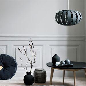 Suspension boule en bois couleur gris perle Zille Broste
