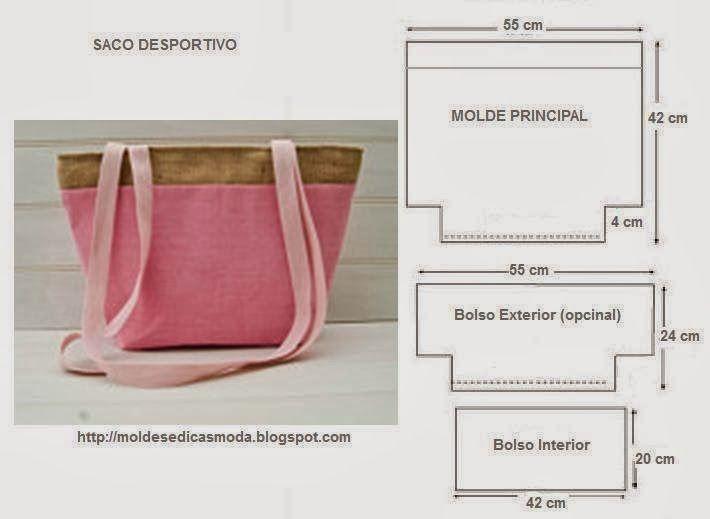 ACESSÓRIOS DE MODA ~ Moldes Moda por Medida   Artesanato - bolsas ...