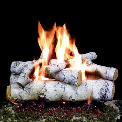 24 Inches Sierra Birch Fire Gas Logs No Hearth Kits For Natural