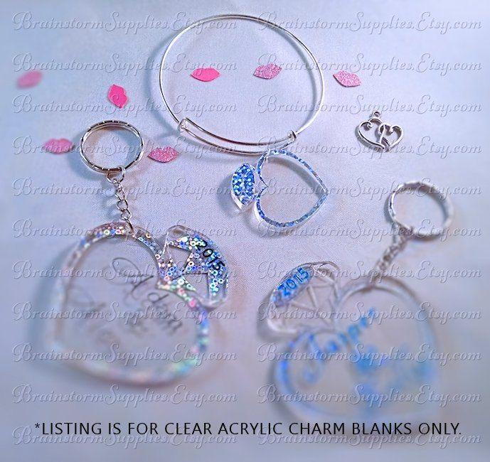 Acrylic Blanks Diamond Ring Blanks Clear Acrylic Shapes Charm Blanks 4 Clear Blanks For Vinyl Decorating 1 5 Bla Acrylic Charms Clear Acrylic Acrylic