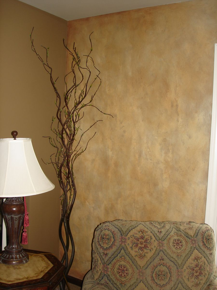 Faux Wall Painting faux suede paint colors | metallic strie` | great room ideas