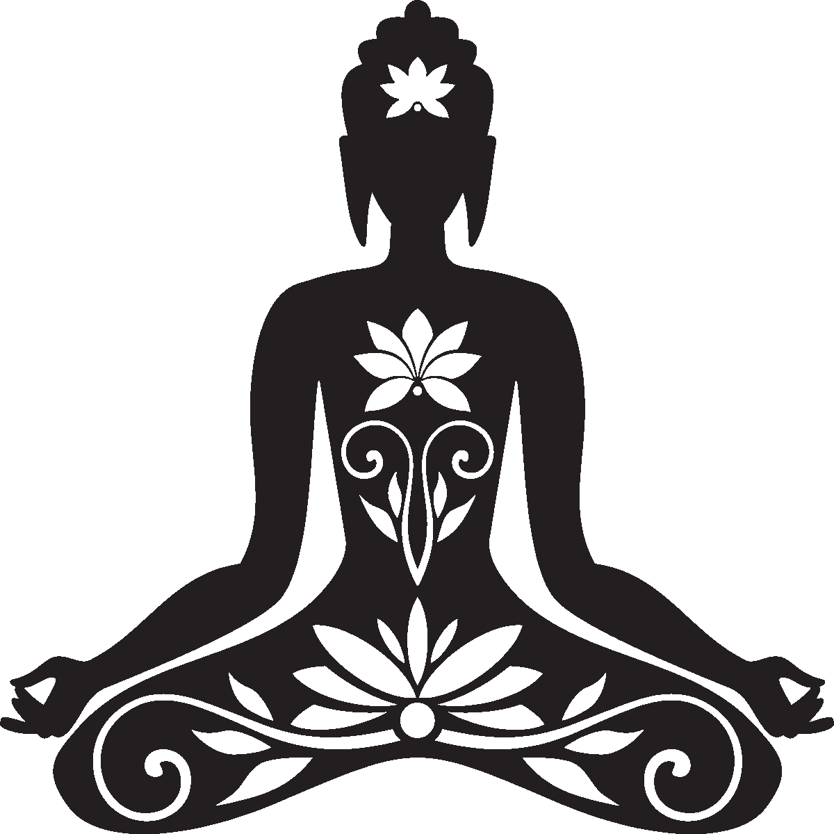 рисунок йога на белом фоне стиля цвета что