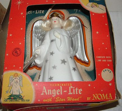 61 Circa 1959 Noma Angel Tree Top With Box I Grew Up With It Still Love It Vintage Christmas Tree Toppers Vintage Christmas Tree Old Time Christmas