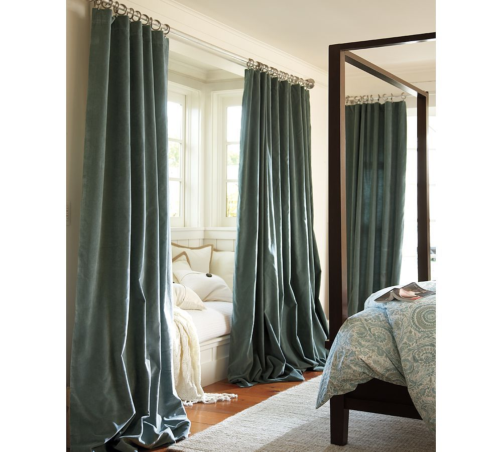 Pottery barn silk curtains - Velvet Drapes For Our Room From Pottery Barn