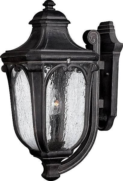 Hinkley Trafalgar 10 Outdoor Cfl Wall Light In Museum Black Finish