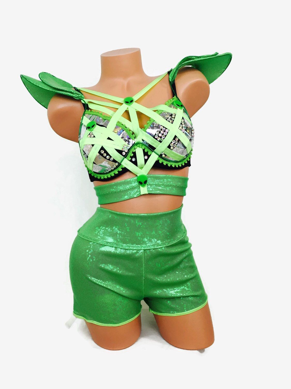 138ace37ba8a Alien costume with El Wire / dance costume / rave costume / EDC / by  RolitaCouture