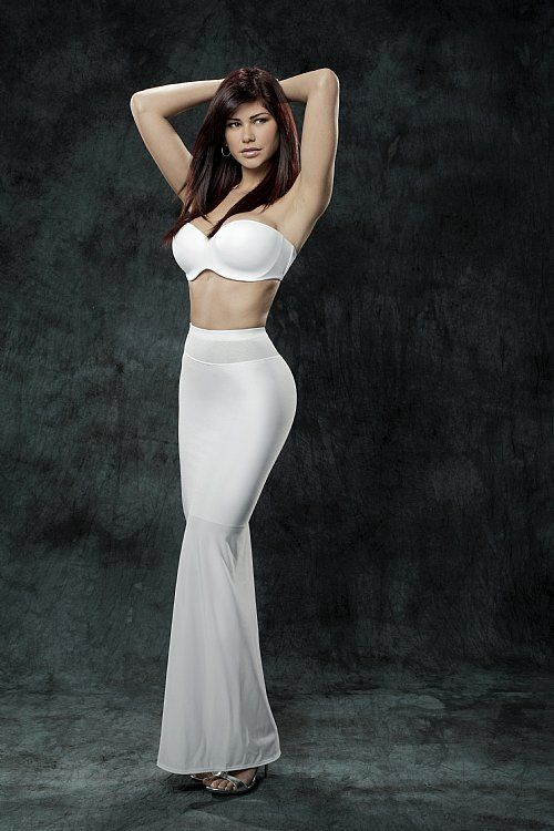 Long White Half Slip And Bra