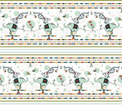 Cirque Du So Mice - © Lucinda Wei fabric by simboko on Spoonflower - custom fabric