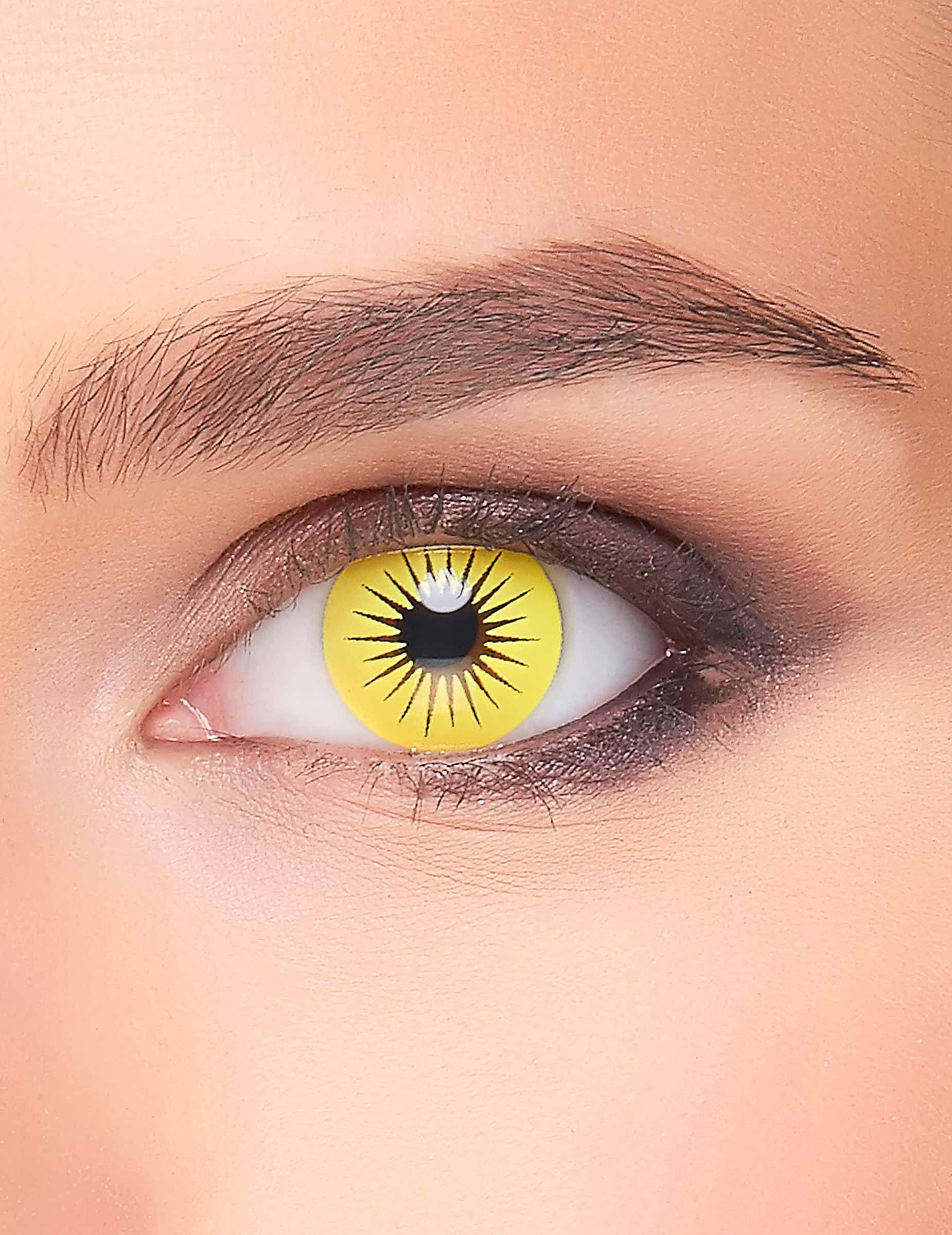 efd913ff34 Lentillas fantasía estrella amarillo adulto: Estos lentes de contacto  fantasía son para adulto. Son