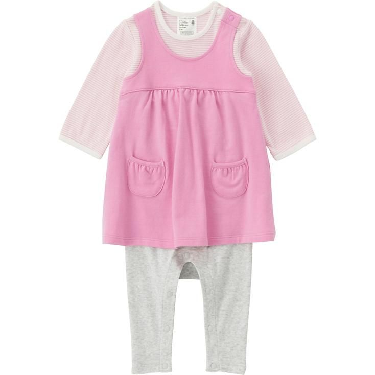 02aa98351 BABY COORDINATE LONG SLEEVE ONE PIECE OUTFIT
