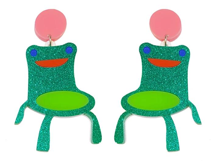 Froggy Chair Earrings In 2020 Froggy Handmade Pretty Earrings