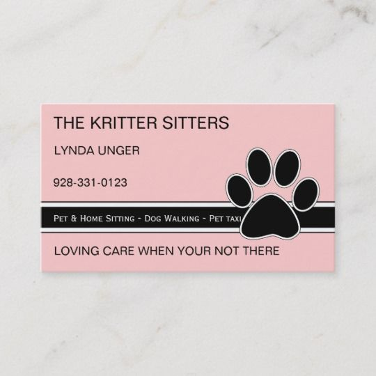 Pet Service Business Cards | Zazzle com | Pet sitting