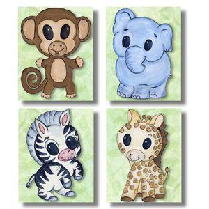 Chibi Baby Jungle Animals