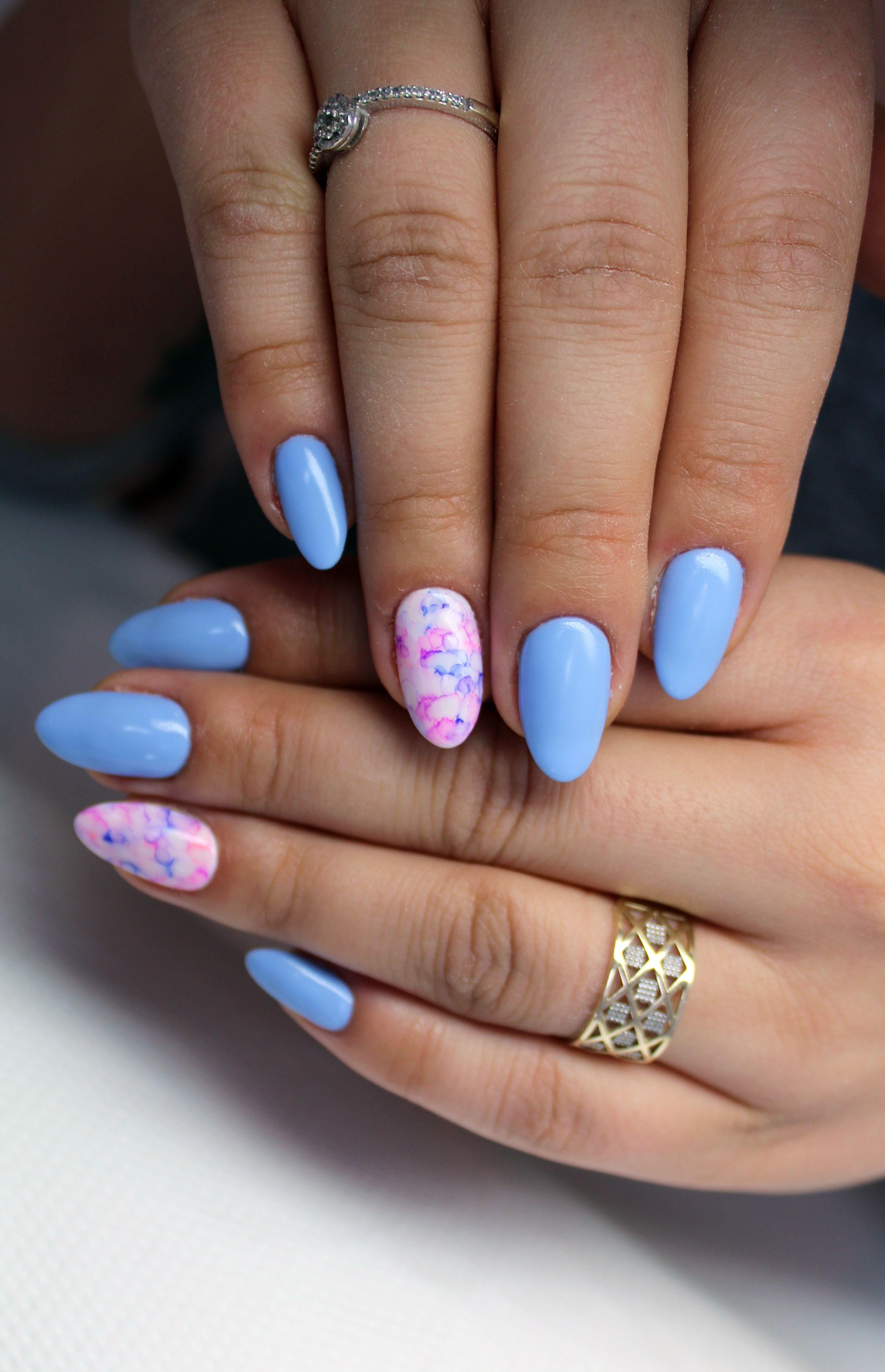 Www Naillook Pl Paznokcie Nail Nails Babyblue Spring Wiosna