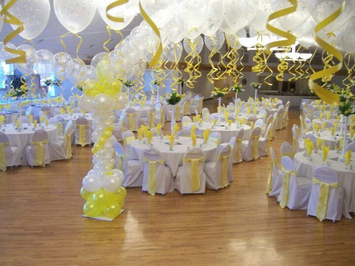 Dance floor decor with chair covers in crystal clear and for Balloon dance floor decoration