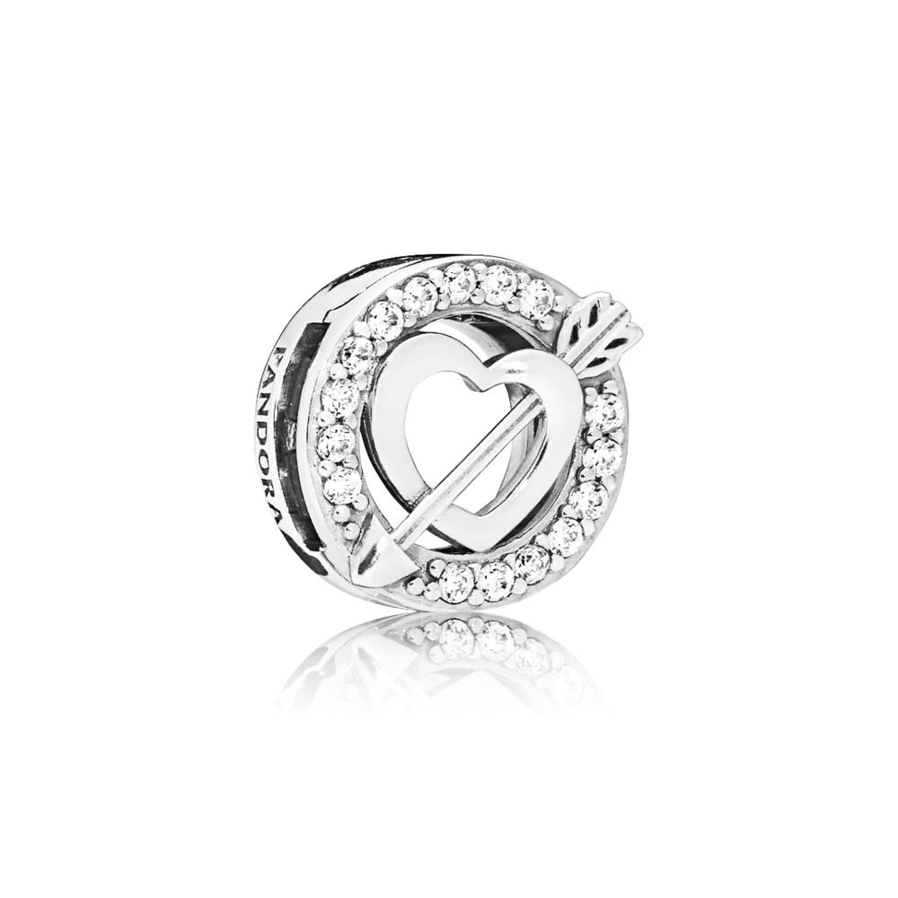 PANDORA Reflexions™ Asymmetric Heart & Arrow Charm, Clear CZ ...