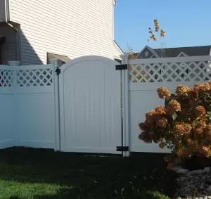 6 Ft H X 4 Ft W Traditional Gate In 2020 Vinyl Gates White Vinyl Fence Vinyl Fence Panels
