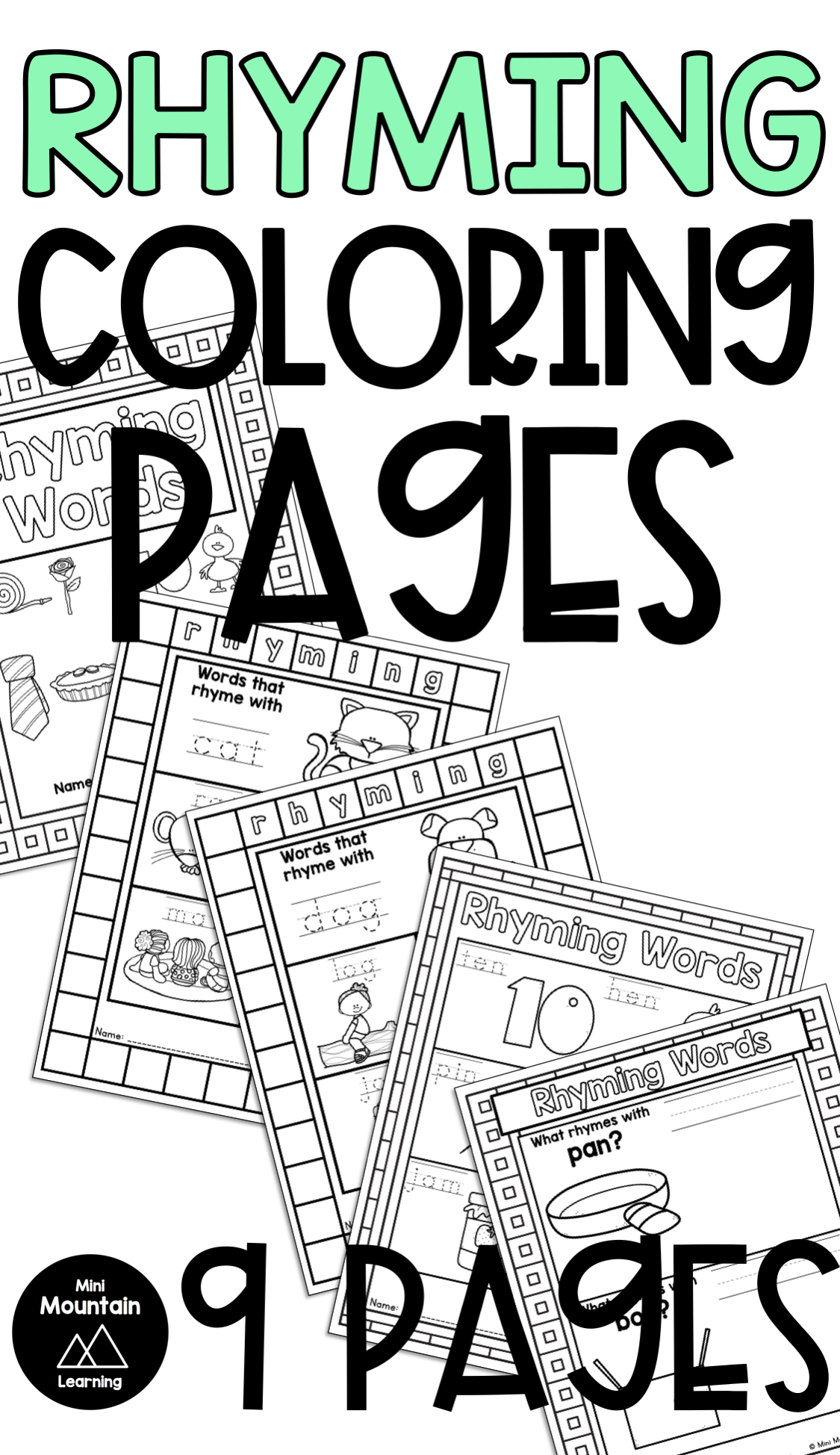 Rhyming Coloring Pages In 2021 Mothers Day Coloring Pages Fathers Day Coloring Page New Year Coloring Pages [ 1948 x 1125 Pixel ]