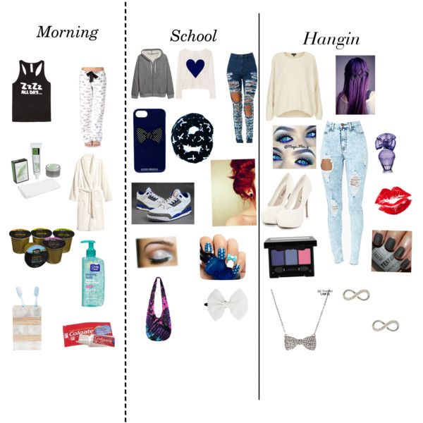 """Staying all the way turned up morning school and party time"" by njaiahflanders on Polyvore"
