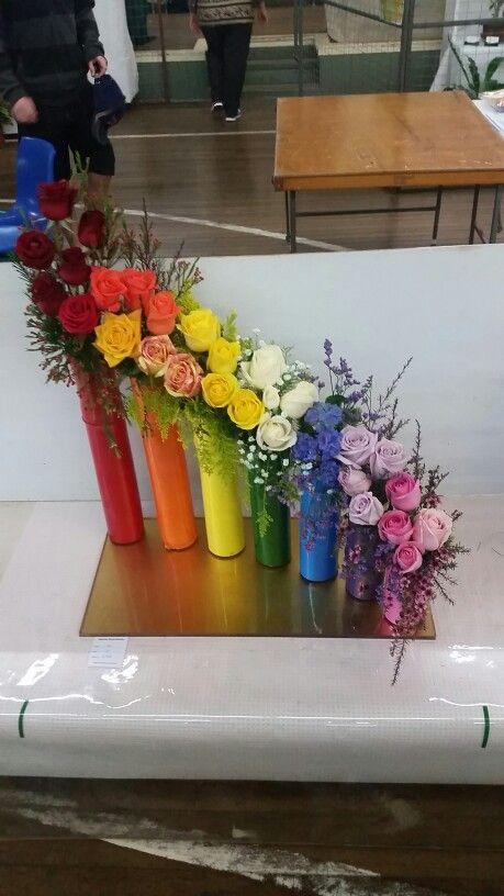 Rainbow Flower Arrangement Novice Champion Winner Atherton Show