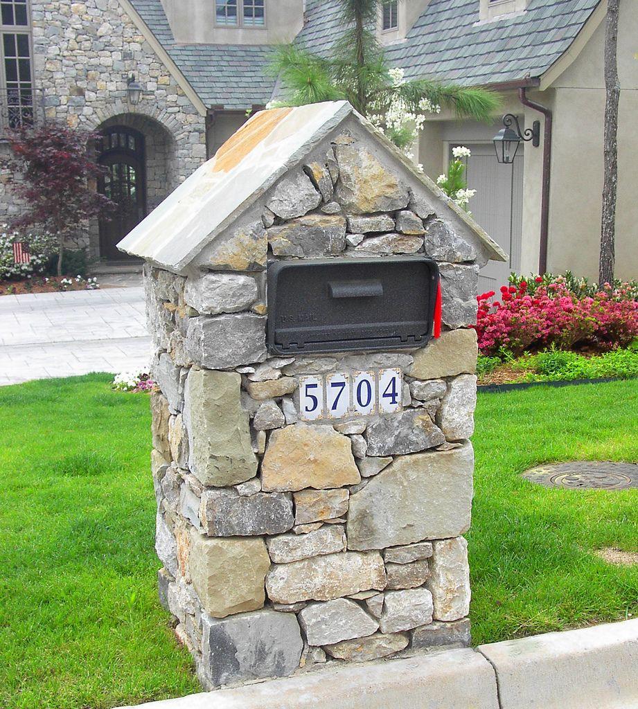 Natural Stone Mailbox In 2020 Stone Mailbox Brick 400 x 300
