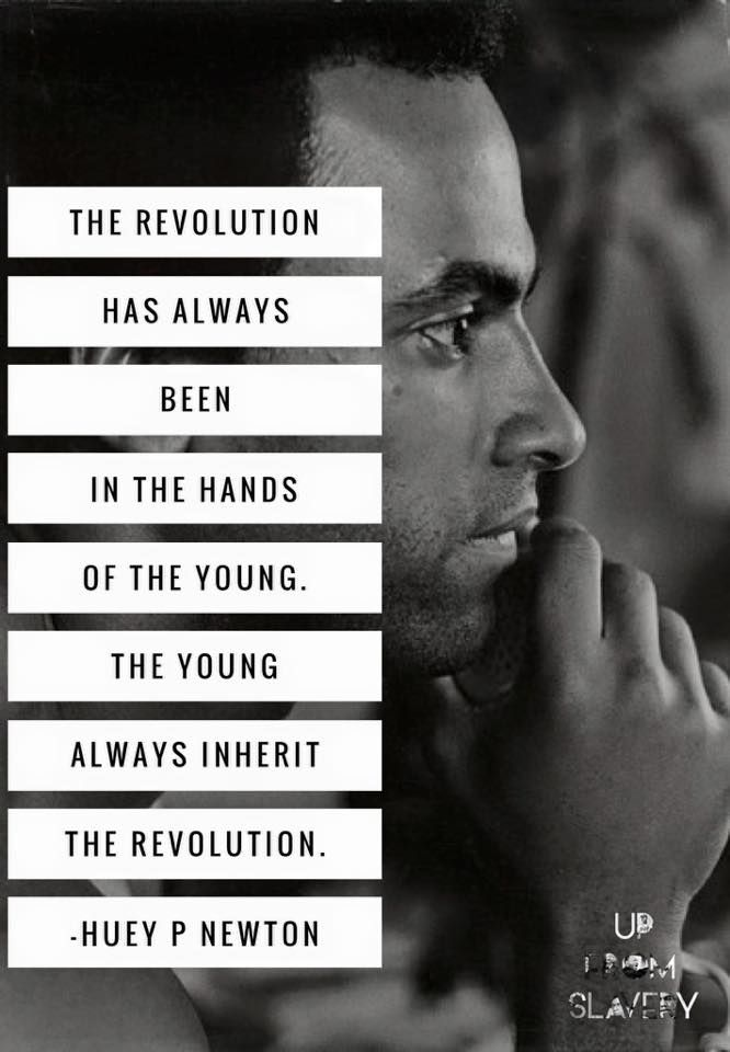 Huey Newton The Revolution Quote Poster 12x18 Inch